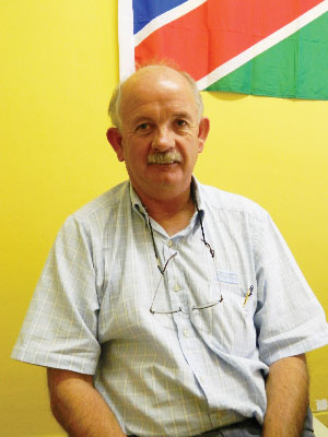 Peter Davidson, treasurer of the Walvis Bay Yacht Club. (Photograph by Clemencia Jacobs)