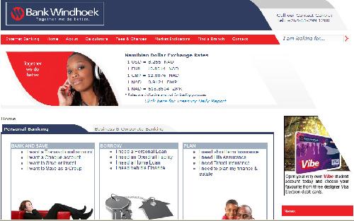 Bank Windhoek's new website