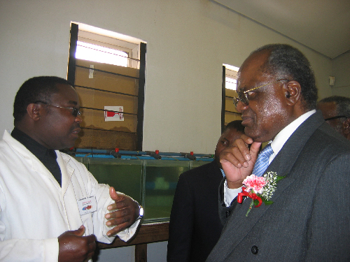 Martin Tjipute, PhD student and His Excellency, President Hifikepunye Pohamba