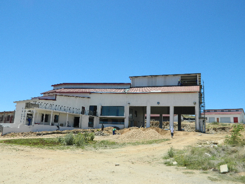 The Khomasdal/Otjimuise fire station currently being constructed. (Photograph by Lorato Khobetsi)