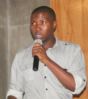 Samson Mulonga, coordinator of the Strengthening the Protected Area Network (SPAN) Project. (Photograph by Lorato Khobetsi)
