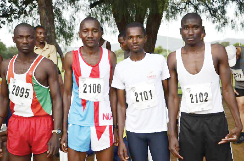 The ever so successful Defence Force Team usually dominates the top positions at Windhoek Harriers.
