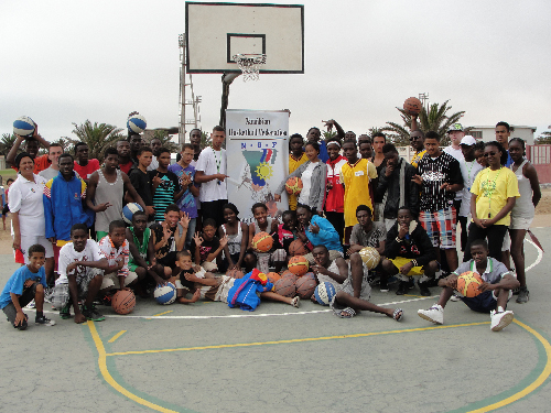 The U/20 regional basketball trials for the Kunene and Erongo regions were held in Swakopmund on 17 March. (Photograph contributed)