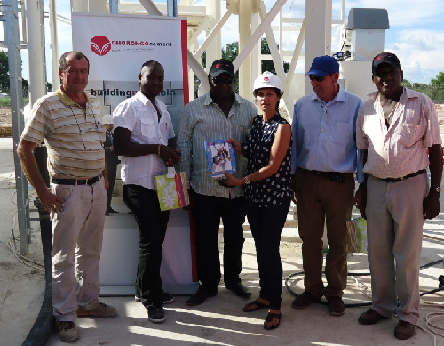 ( From left to right) Paulo Francois, Malakidi Zola, Benjamin Hauwanga (BH Motorspares), Leonorita Moller (Ohorongo Cement Logistics), Antonio Matos, Petrus Enkali (Enkali Transport). (Photograph contributed)