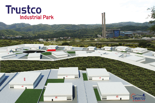 This image showcases how the Trustco Industrial Park will look like once it is complete.