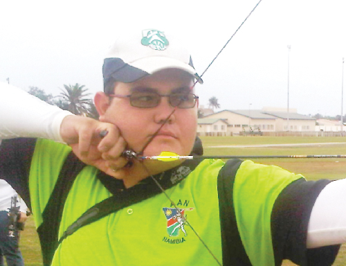 Francois Marais, a member of the Namibian archery team.