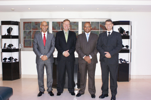 From left to right: Johny Smith, WBCG's chief executive officer; Kobus Maree, Savino Del Bene (Savino) SA managing director; Bisey Uirab, Namport chief executive officer and Karel Grunschloss, director of the Namibia Logistics Association. (Photograph contributed)