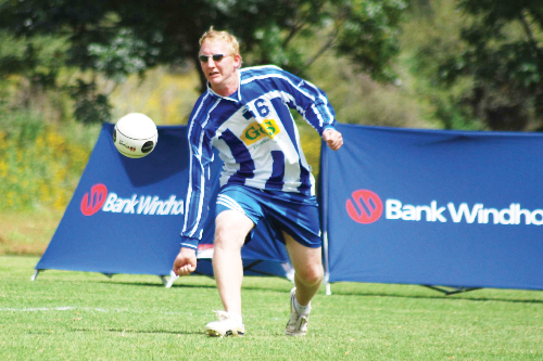 SFC defensive player Heinz Harms will be in action this weekend in the Bank Windhoek National B league where his team is currently second on the log. Photograph provided by the  Fistball Association of Namibia (FAN).