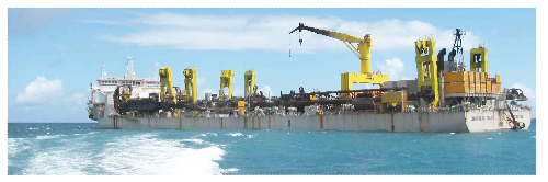 This is the type of dredger that will be used to mine once the Sandpiper project receives environmental clearance. (Photograph contributed)