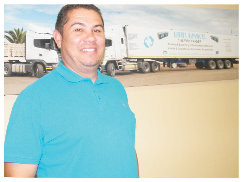 Rojo van Wyk, owner of Fish Trader. (Photograph by Clemencia Jacobs)