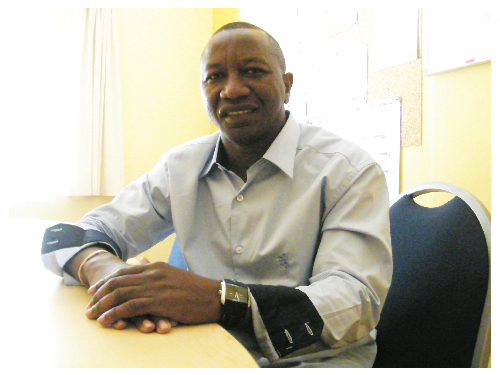 Matti Amukwa, chairperson of the Hake Association of Namibia. (Photograph by Clemencia Jacobs)