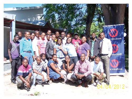 The first 35 teachers attending a training workshop in Katima Mulilo. (Photograph contributed)