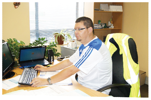 Max Benade, supervisor of corridor freight at Woker Freight Services (Photograph contributed)