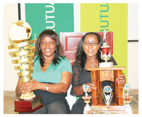 Sunday Haitembu, Chief Sport Officer in the Ministry of Youth, National Service, Sport and Culture and Hilja Paulus, national netball umpire at the launch of the Old Mutual Far North Championship  held in Ongwediva.