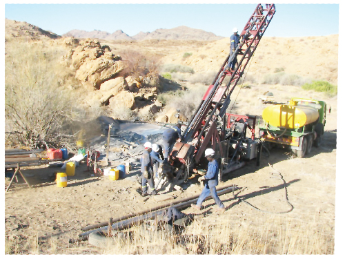 Drilling at the Namibplaas project is currently under way. (Photograph contributed)