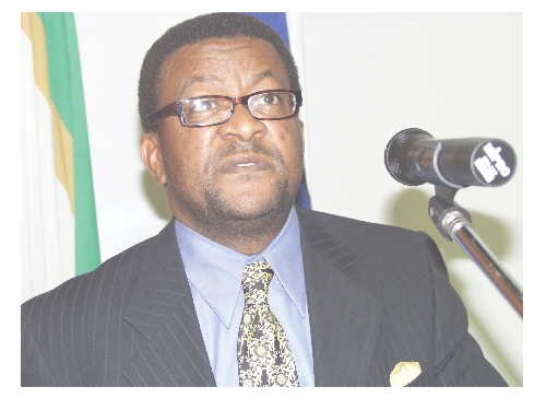 Rector of the Polytechnic of Namibia, Dr Tjama Tjivikua.