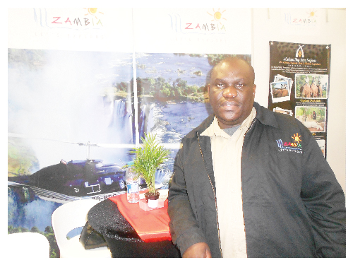 Solistor Cheelo, Tourism Promotions Manager for the Zambian Tourism Board. (Photograph by Hilma Hashange)