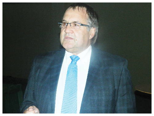 Kobus van Graan, Chairman of the Namibian Agronomic Board. (Photograph by Hilma Hashange)