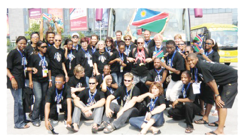 Voices of Namibia sings on Saturday at the DHPS Aula to raise funds for their tour to the United States where they will compete in the International Choral Olympics.