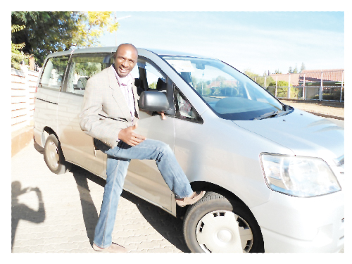 James David, co-founder of James Investments CC with his new van.