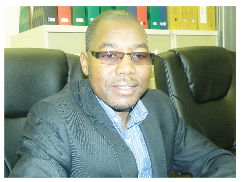 Johnson Ndokosho, Technical Advisor of the Namibia Africa Adaptation Project (Photograph by Hilma Hashange)