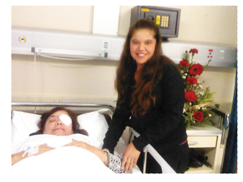 Mrs. Maria Orlanda Martins with her daughter Gorreti Jansen after her operation.