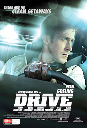 Ryan Gosling plays a stuntman, mechanic and getaway driver for criminals when they rob places.