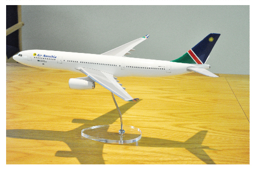 A model of the new Air Namibia A330-200 aircraft was shown to the press this week. The new aeroplane will be introduced on the Frankfurt route by October this year.