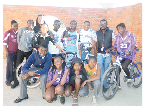 The 13-member cycling team of Physically Active Youth, will participate in the junior and elite age groups. (Photograph Yvonne Amukwaya)