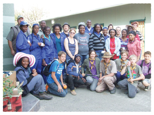 A large group of enthusiasts helped to remove more than a ton of invader plant species from Windhoek's botanial gardens.