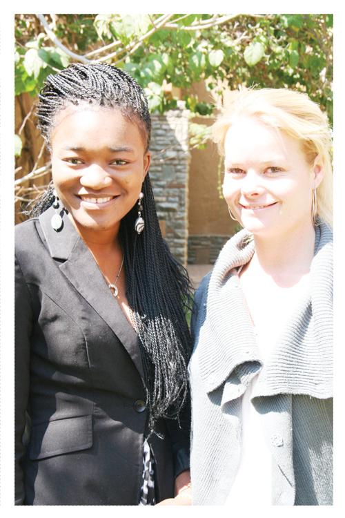Hilma Angula and Dr. Justine Braby