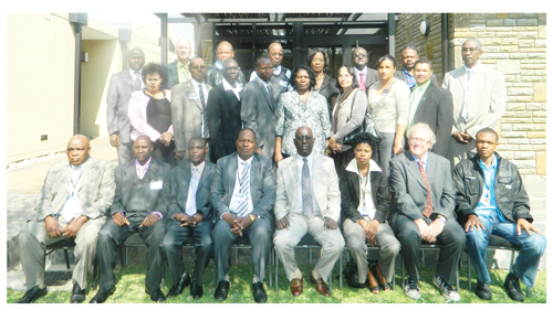 The delegation of regional fingerprint experts from various police forces in southern Africa, met in Windhoek this week. (Photograph by Hilma Hashange)