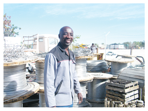 Nicolai Shikongo, Head of Projects and Operations at Oshana Power Lines. (Photograph by Hilma Hashange)