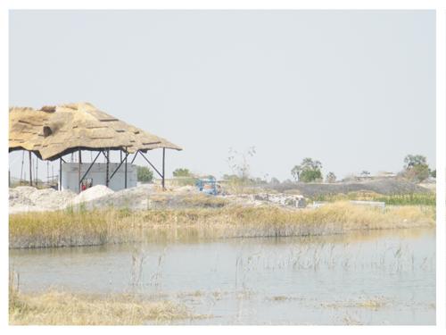 A dam in Ondangwa