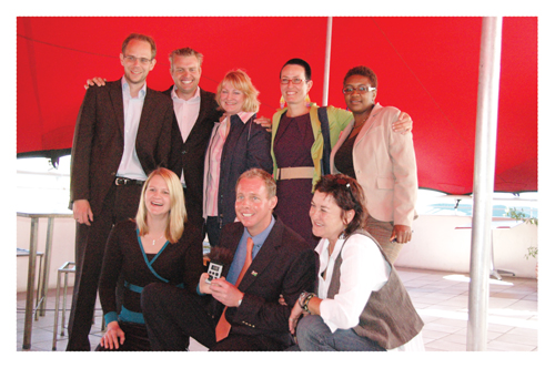 Seated from left to right: Sybille Rothkegel and Wilfried Hähner. Standing from left to right: Christian Trede, Reinhold Rothkegel, Renate Loth, Ronja Lyhs and Tina Heita.
