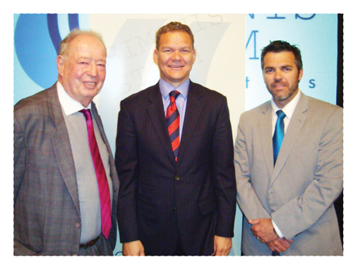(from left to right); Prof Brian Kantor of Investec, Andrew Jansen, Managing Director of Simonis Storm Securities and Muller Kotze, Head: Corporate Finance of Simonis Storm Securities.