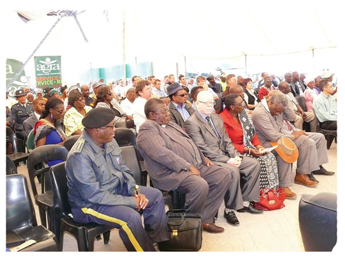A large audience attended the official opening of Agra's new branch at Oshivelo last week Friday.