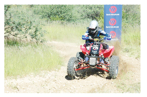 Yana de Jesus, a participant in the masters squad in action at the previous Bank Windhoek Namibian National Series held at the Tony Rust race track.
