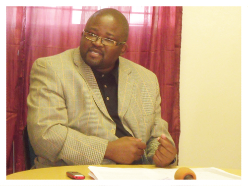 Secretary General of the National Union of Namibian Workers, Evilastus Kaaronda.