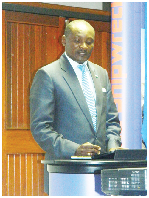 Pohamba Shifeta, the Deputy Minister of Youth, National Service, Sport and Culture.