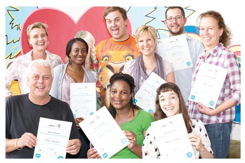 Creative guru, Mark Bongers (front left) and the creative team at DV8 Saatchi &Saatchi. The agency's work for Tafel Lager on its mobile website has landed them a finalist nomination in the high-profile SA Loerie awards for advertising.