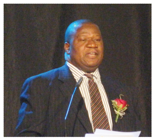 Minister of Agriculture, Water and Forestry, John Mutorwa speaking at the inaugural Namibia Water Investment Conference
