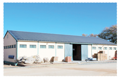 The goods shed at Agra's Otjiwarongo branch houses the first solar installation for small commercial applications.