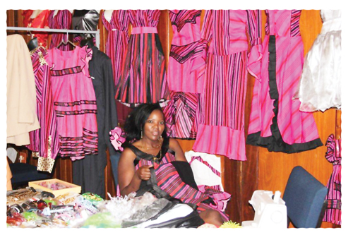 Albertina Amupolo, owner of Nepety Trading Enterprises at last years Uis Expo.