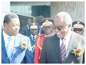 President Faure Essozimna Gnassingbe of Togo and President Hifikepunye Pohamba (Photograph by Hilma Hashange)