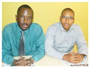 Simba Clive and Donavan Keister of African Business Solutions. (Photograph by Hilma Hashange)