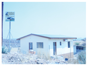 One of the houses built by Cheetah Capital under construction in Otjimuise.