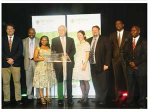 Chief Executive Officer of Vivo Energy with the Vivo Energy Namibia Management team (Photograph by Hilma Hashange)