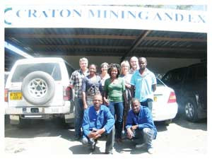 Mining explorer, Craton depends on the skills of its specialised staff (Photograph Yvonne Amuwkwaya)