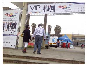 The first keen visitors started flocking to the Erongo Business and Tourism expo when it opened on Wednesday.